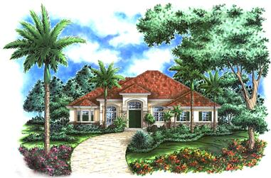 3-Bedroom, 3089 Sq Ft Country Home Plan - 175-1214 - Main Exterior