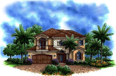2-Bedroom, 3012 Sq Ft Mediterranean Home Plan - 175-1220 - Main Exterior