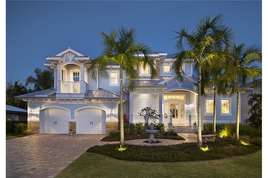 ... , 3445 Sq Ft Coastal House Plan #175-1226