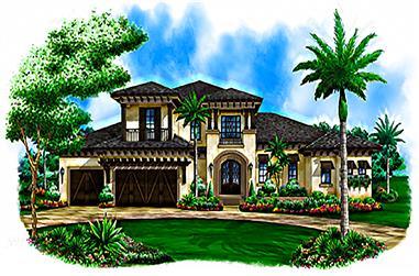 3-Bedroom, 3469 Sq Ft Coastal Home Plan - 175-1227 - Main Exterior