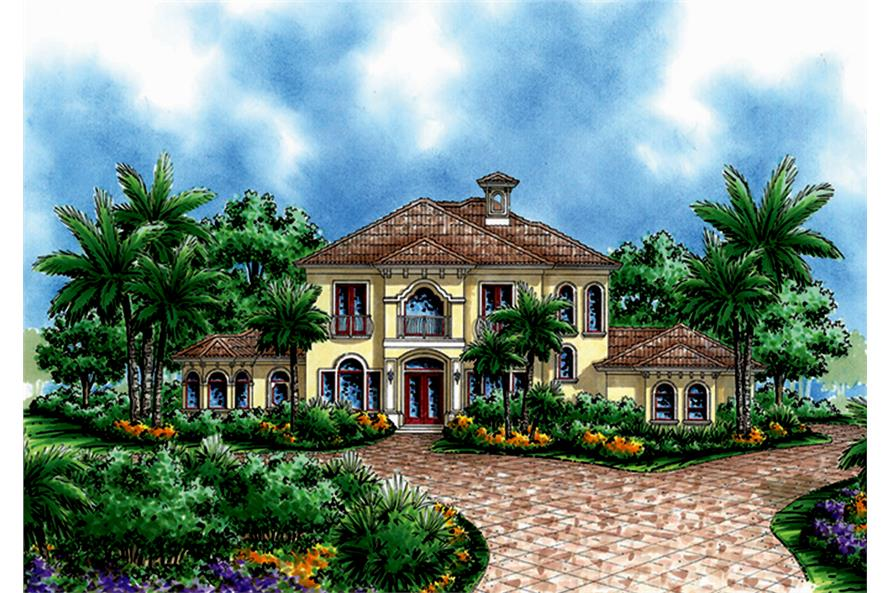 3-Bedroom, 3571 Sq Ft Mediterranean Home Plan - 175-1231 - Main Exterior