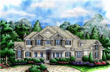 2-Bedroom, 5076 Sq Ft Coastal House Plan - 175-1238 - Front Exterior