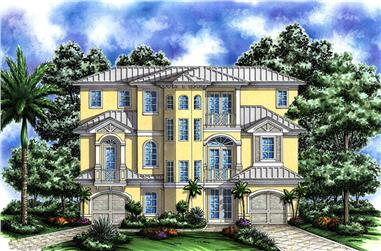 Front elevation of Coastal home (ThePlanCollection: House Plan #175-1239)