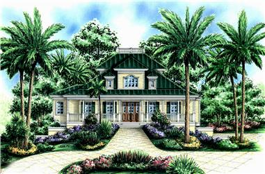 3-Bedroom, 4109 Sq Ft Coastal Home Plan - 175-1240 - Main Exterior