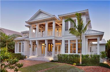 5-Bedroom, 5653 Sq Ft Coastal Home Plan - 175-1243 - Main Exterior