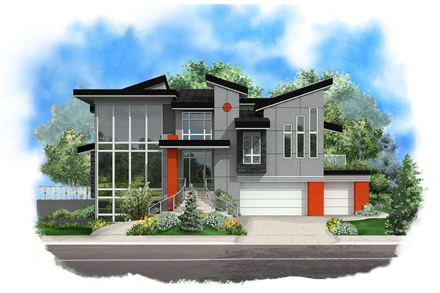 5-Bedroom, 6385 Sq Ft Modern Home Plan - 175-1244 - Main Exterior