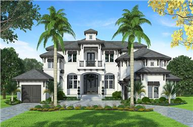 4-Bedroom, 6707 Sq Ft Mediterranean Home Plan - 175-1245 - Main Exterior