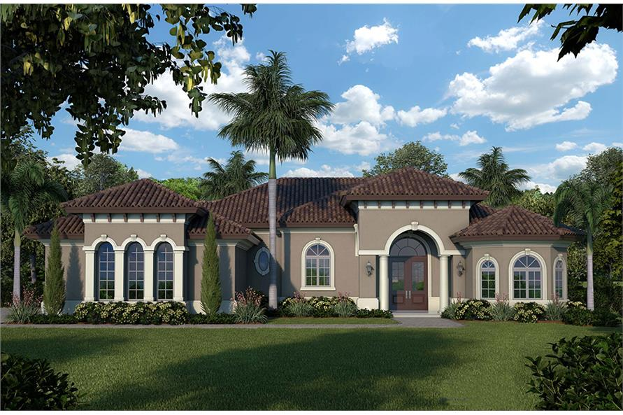 3 Bedrm 1526 Sq Ft Mediterranean House Plan 175 1249