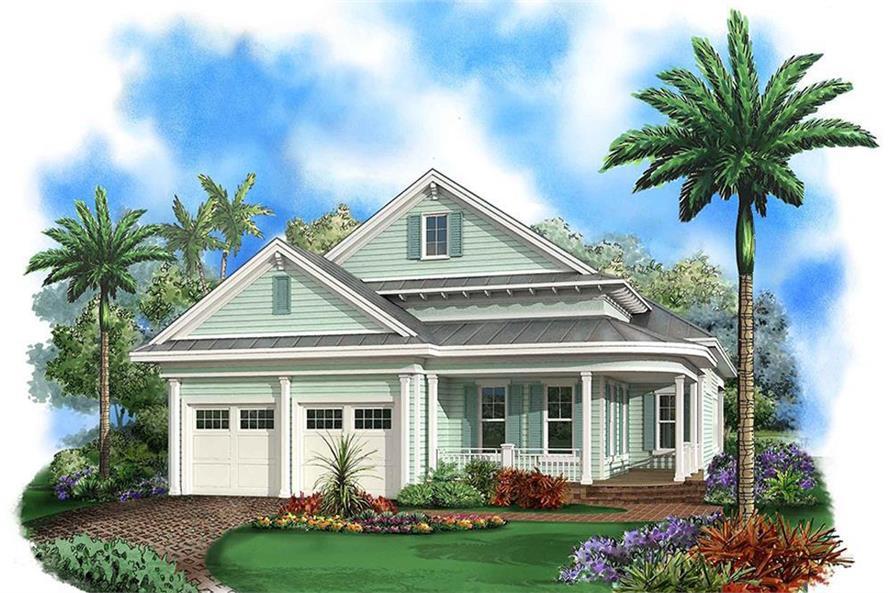 3-Bedroom, 2972 Sq Ft Coastal Home Plan - 175-1250 - Main Exterior