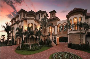 6-Bedroom, 8364 Sq Ft Mediterranean Home Plan - 175-1256 - Main Exterior