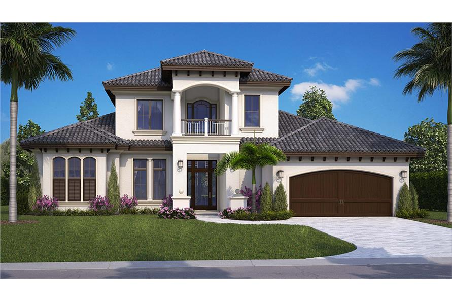 Mediterranean Floor Plan 4 Bedrms 4 5 Baths 3616 Sq