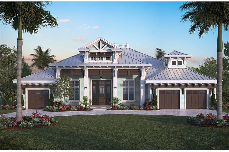 4 bedrm 4027 sq ft florida style house plan 175 1258 Florida style home plans