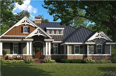 2-Bedroom, 1610 Sq Ft Craftsman Home Plan - 175-1261 - Main Exterior