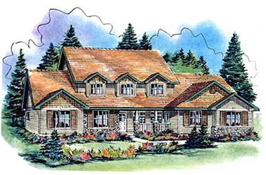 4-Bedroom, 3009 Sq Ft Country Home Plan - 176-1000 - Main Exterior
