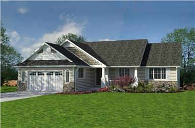 4-Bedroom, 1863 Sq Ft Craftsman Home Plan - 176-1002 - Main Exterior