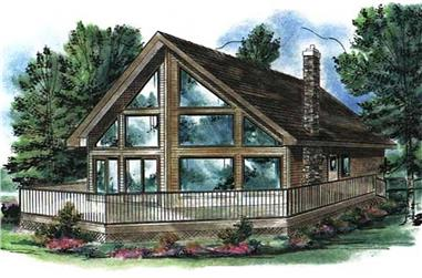 2-Bedroom, 1122 Sq Ft Log Cabin Home Plan - 176-1003 - Main Exterior