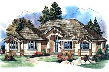 3-Bedroom, 2424 Sq Ft French Home Plan - 176-1004 - Main Exterior