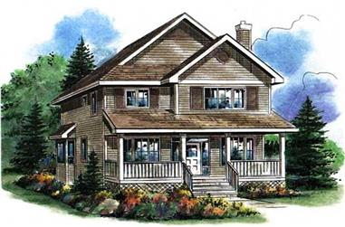 3-Bedroom, 1722 Sq Ft Country Home Plan - 176-1006 - Main Exterior