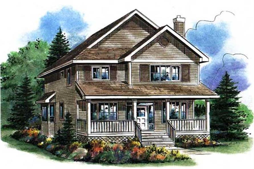 Country house plans home design 2292 for Old fashioned home plans