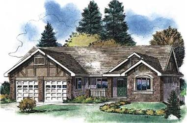 3-Bedroom, 1668 Sq Ft Country Home Plan - 176-1007 - Main Exterior
