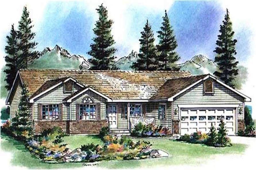 3-Bedroom, 1538 Sq Ft Country Home Plan - 176-1008 - Main Exterior