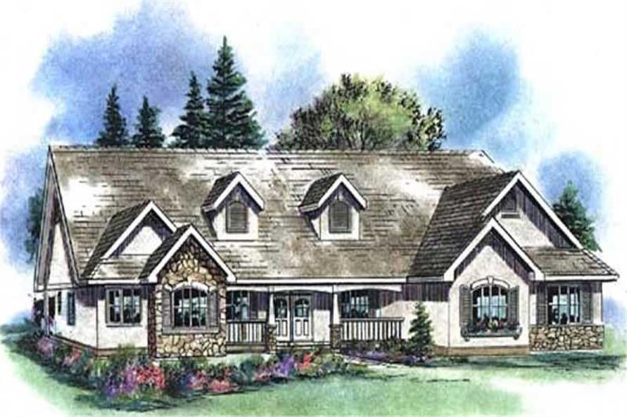 4-Bedroom, 2630 Sq Ft Country House Plan - 176-1009 - Front Exterior