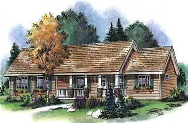 3-Bedroom, 2022 Sq Ft Country House Plan - 176-1010 - Front Exterior