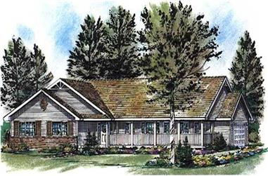 3-Bedroom, 1463 Sq Ft Ranch Home Plan - 176-1011 - Main Exterior