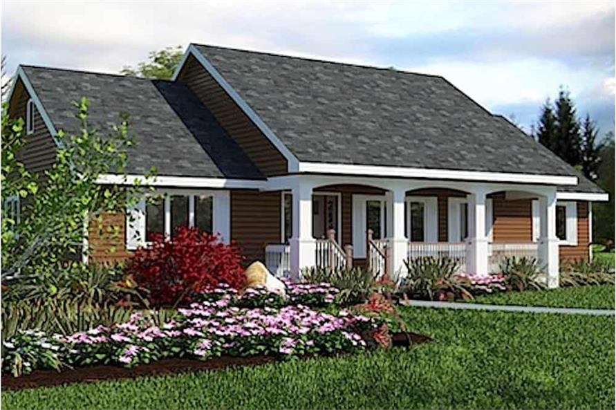 Front View of this 3-Bedroom,1412 Sq Ft Plan -176-1012