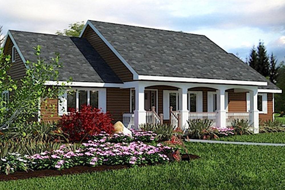 Ranch style plan #176-1012