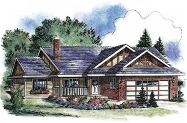 2-Bedroom, 1096 Sq Ft Ranch Home Plan - 176-1013 - Main Exterior