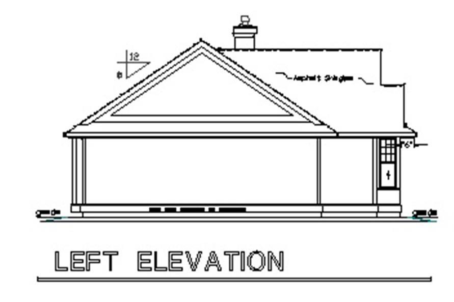 176-1015: Home Plan Left Elevation