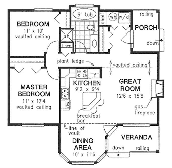 Small Country Traditional Ranch House Plans Home Design 2225