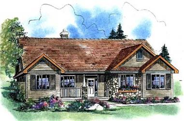 3-Bedroom, 1511 Sq Ft Ranch Home Plan - 176-1016 - Main Exterior