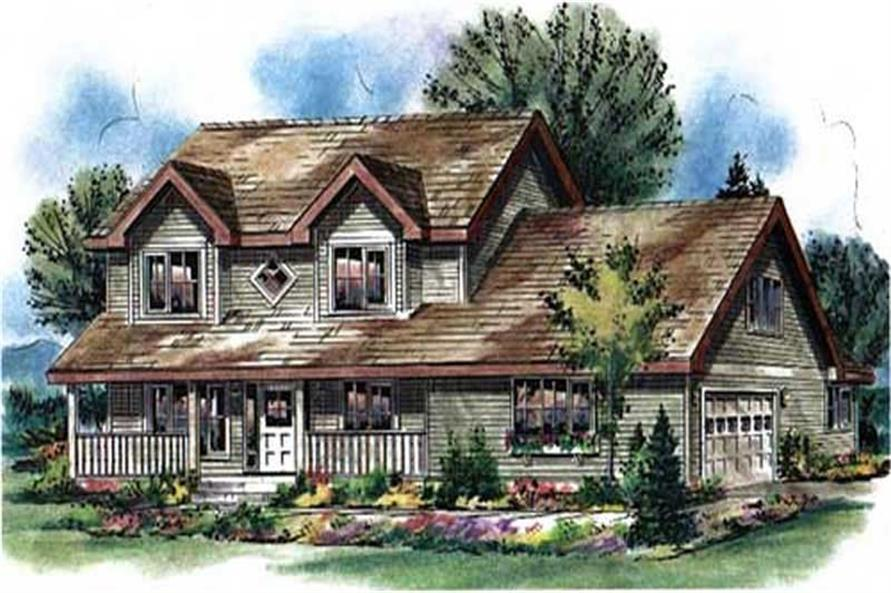 4-Bedroom, 2150 Sq Ft Country House Plan - 176-1018 - Front Exterior