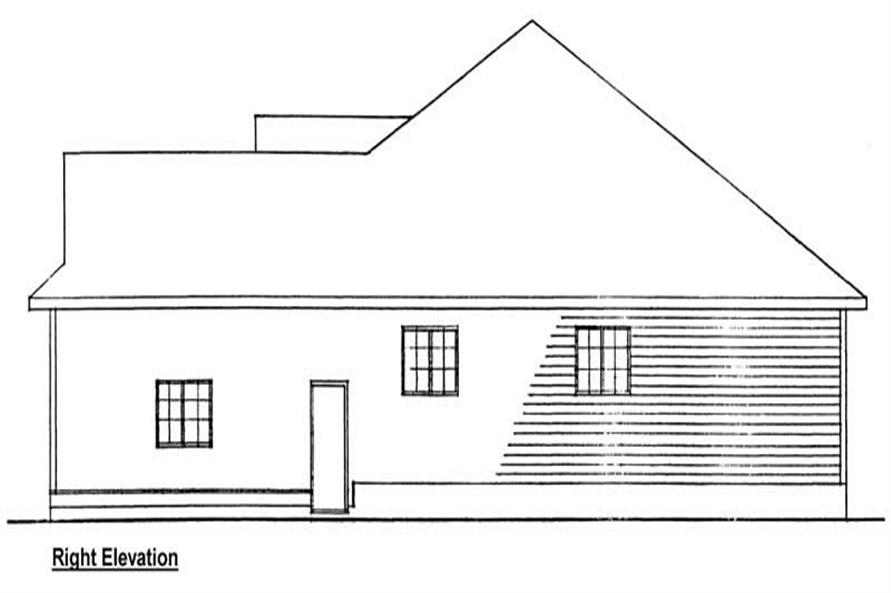 Home Plan Right Elevation of this 3-Bedroom,1506 Sq Ft Plan -177-1000