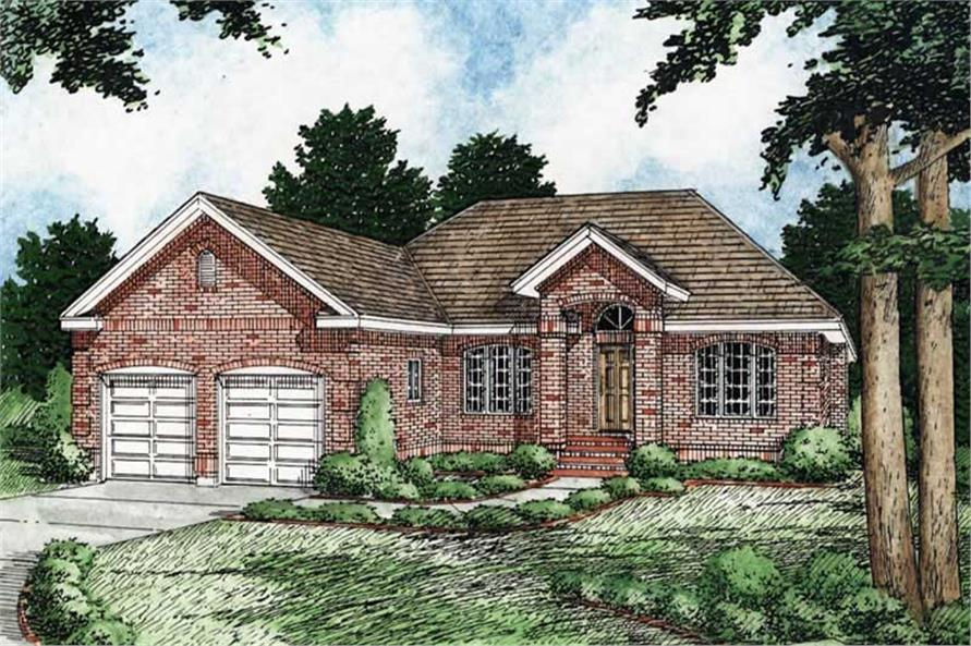 3-Bedroom, 1493 Sq Ft Georgian Home Plan - 177-1001 - Main Exterior
