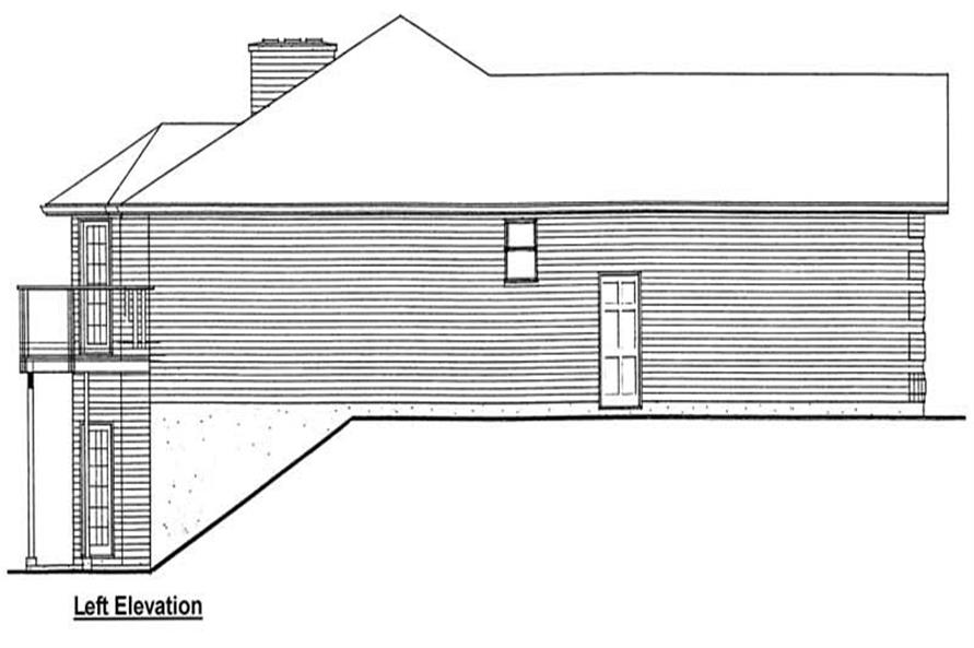Home Plan Left Elevation of this 3-Bedroom,1493 Sq Ft Plan -177-1001