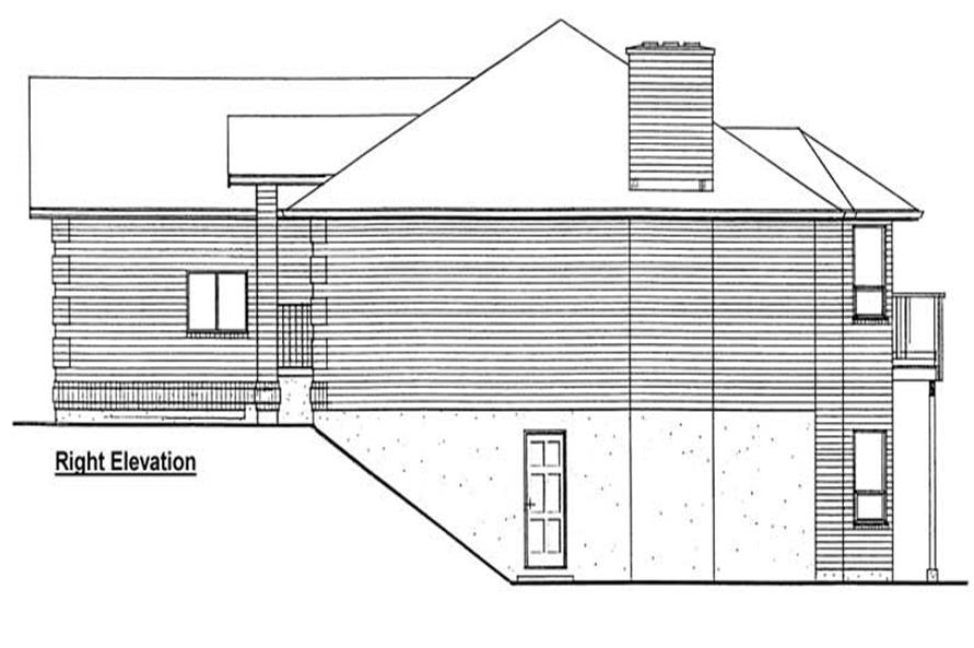 Home Plan Right Elevation of this 3-Bedroom,1493 Sq Ft Plan -177-1001