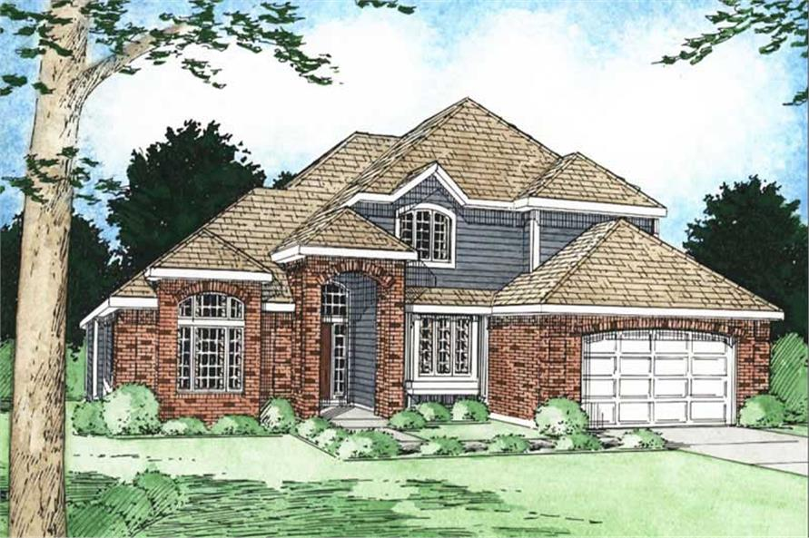 Home Plan Rendering of this 3-Bedroom,2423 Sq Ft Plan -177-1002