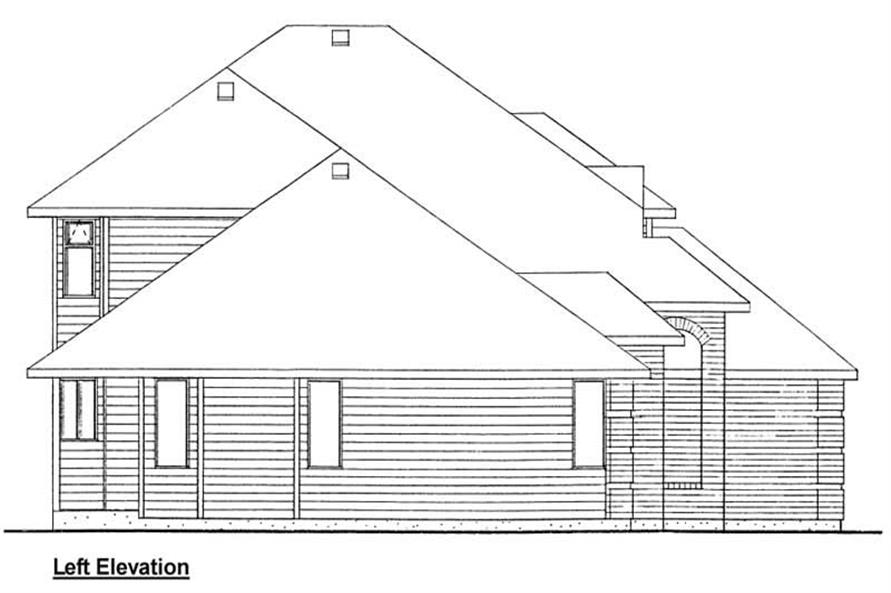 Home Plan Left Elevation of this 3-Bedroom,2423 Sq Ft Plan -177-1002
