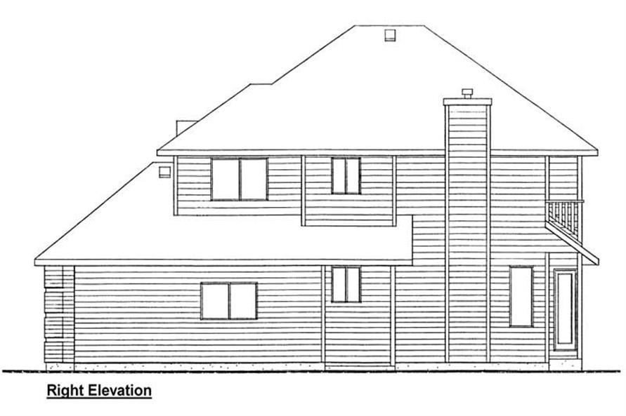 Home Plan Right Elevation of this 3-Bedroom,2423 Sq Ft Plan -177-1002