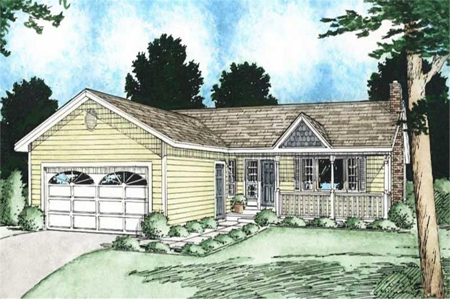 Main image for house plan # 13076