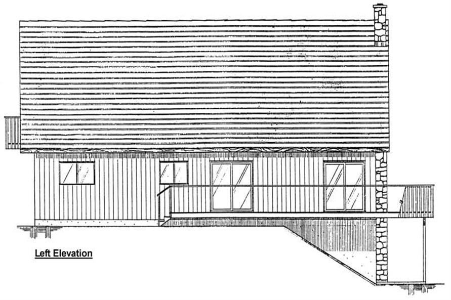 Home Plan Left Elevation of this 1-Bedroom,1702 Sq Ft Plan -177-1005