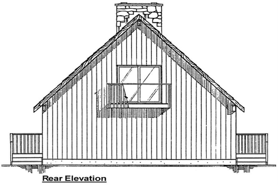 Home Plan Rear Elevation of this 1-Bedroom,1702 Sq Ft Plan -177-1005
