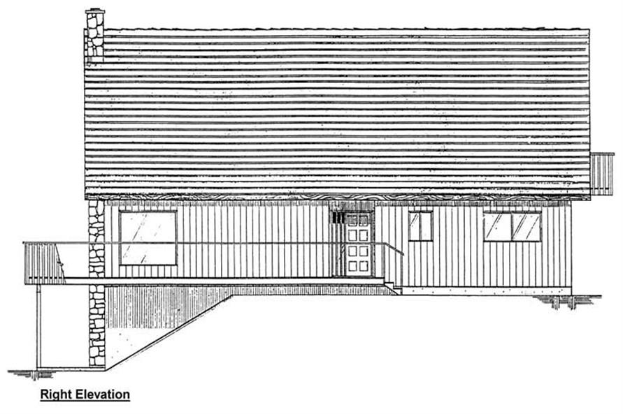 Home Plan Right Elevation of this 1-Bedroom,1702 Sq Ft Plan -177-1005
