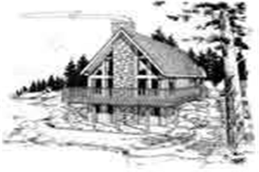 Home Plan Front Elevation of this 1-Bedroom,1702 Sq Ft Plan -177-1005