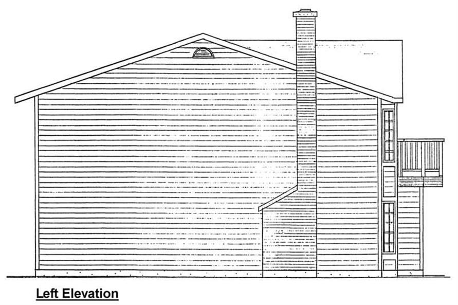 Home Plan Left Elevation of this 4-Bedroom,2391 Sq Ft Plan -177-1009