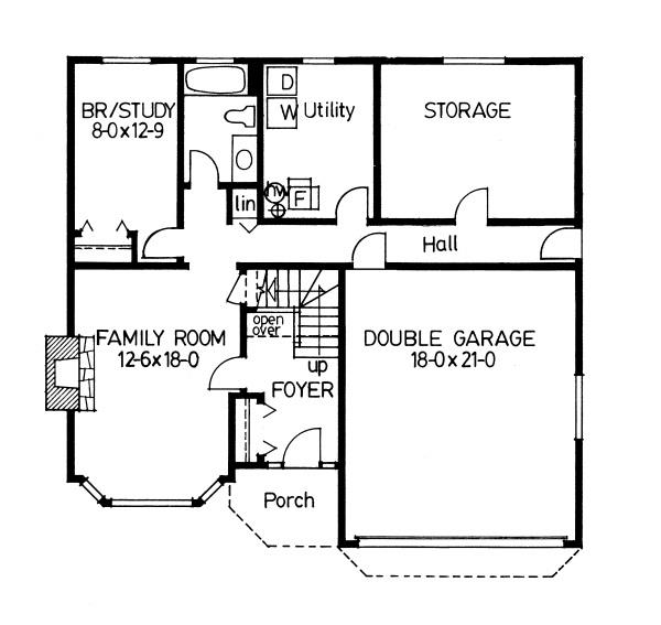 177-1009 house plan lower level