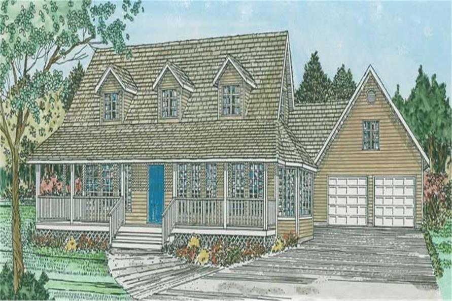 3-Bedroom, 2577 Sq Ft Colonial House Plan - 177-1010 - Front Exterior